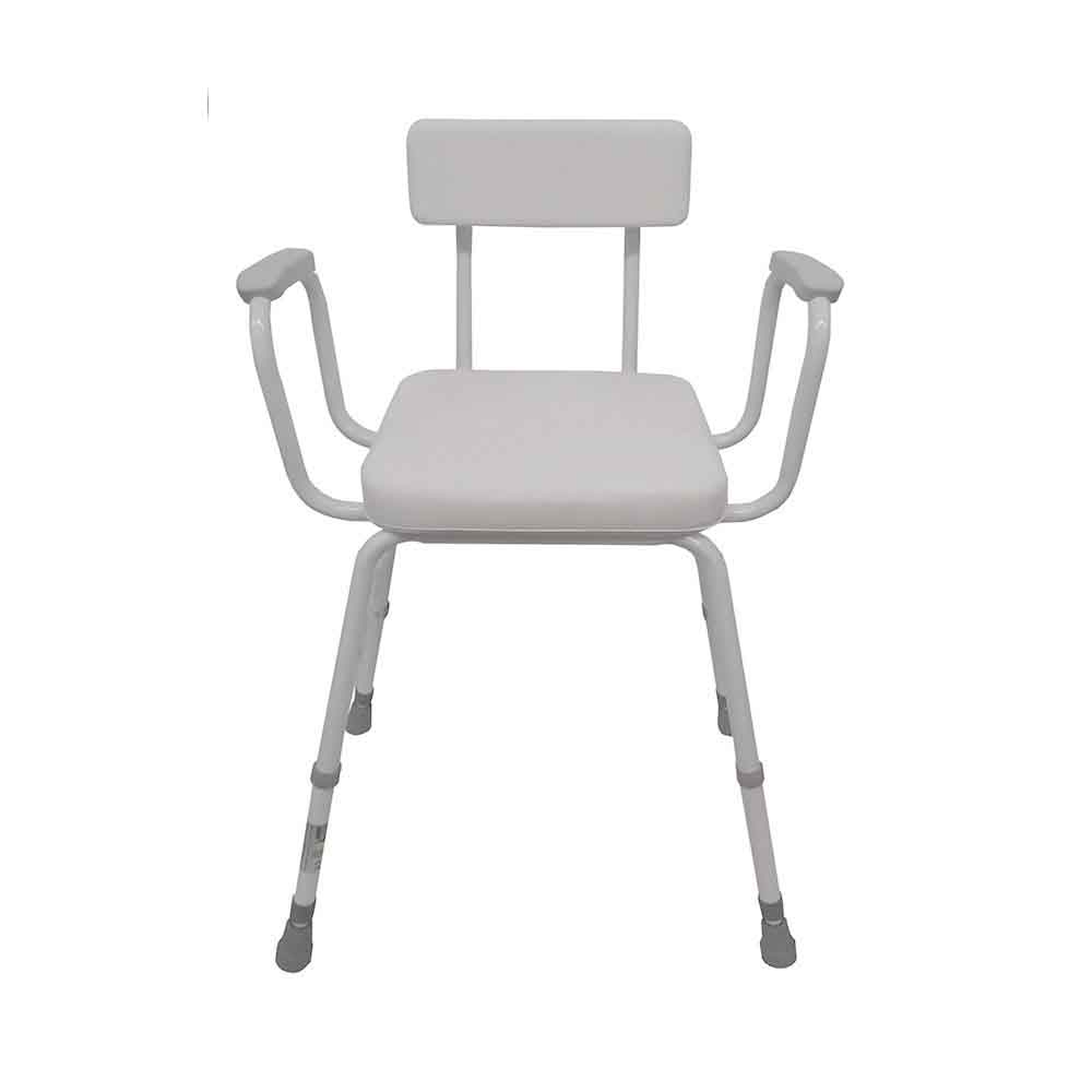 Malvern Vinyl Seat Perching Stool With Moulded Arms